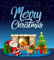 Merry chritsmas santa e renne card