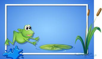 Une frontière de grenouille sauteuse
