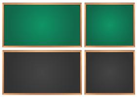 Chalkboards in green and black vector