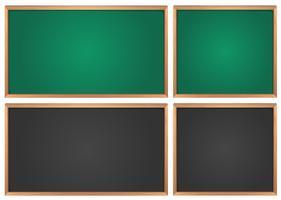 Pizarras en verde y negro.