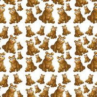 Bear on seamless pattern