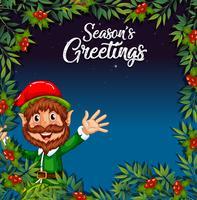 Un elfo sul modello di Natale