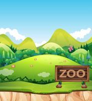 Een dierentuin teken in de natuur