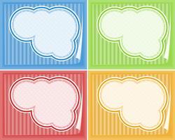 Rahmenvorlagen in vier Farben