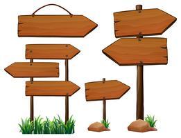 Design diferente de sinais de madeira