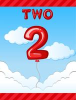 Number two balloon on sky