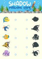 Zusammenpassende Spielvorlage des Unterwasserschatten