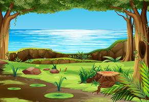 A beautiful nature landscape vector