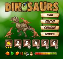 Game template with dinosaur theme