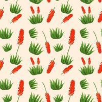 Nahtloses Muster der Aloe Vera-Blume