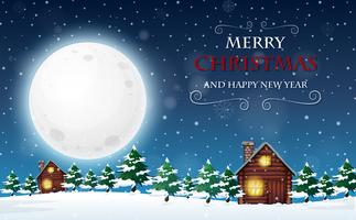 Una plantilla de feliz navidad y feliz año nuevo
