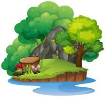 Uma ilha natural isolada