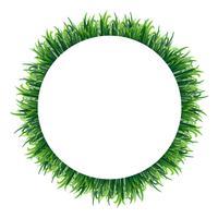 Plantilla de borde con hierba verde
