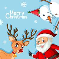Frohe Weihnachten blaue Vorlage
