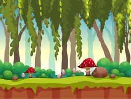Uma paisagem de floresta de conto de fadas