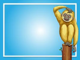 Rahmenvorlage mit weißem Gibbon