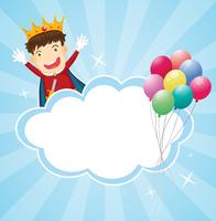 A stationery with a king and balloons