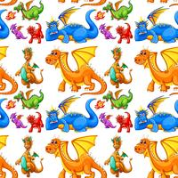 Naadloos verschillend type van draken