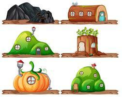 Set van sprookjes huis
