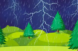 A thunderstorm nature scene