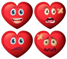Set of heart character