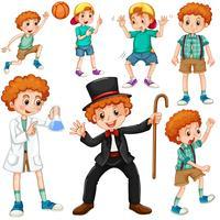 Niño haciendo diferentes actividades