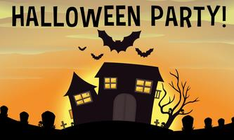 Poster of halloween party