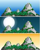 Satz unterschiedliche Zeit des Bergblicks