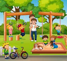 People playing in playground