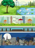 Satz der städtischen Ansicht