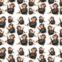 Playful ape seamless pattern