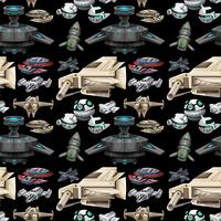 Seamless different design of spaceship