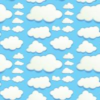Seamless clouds in blue sky vector