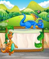 Gränsdesign med drakar