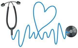 Stethoscope as symbol of good health