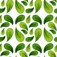 Green leaf seamless background