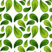 Green leaf seamless background