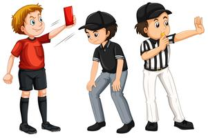 Set of referee character