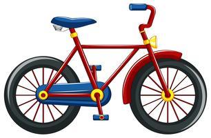 Bicicleta com moldura vermelha