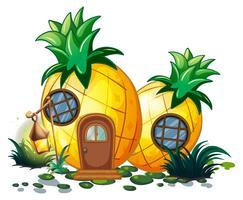 Casa de abacaxi no jardim