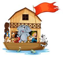 Dieren op boot