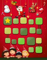 Game template with children and christmas vector