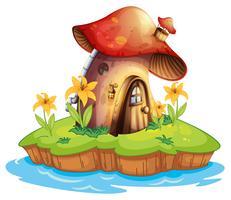 Een paddestoelhuis
