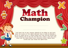 Certification with girl and math theme
