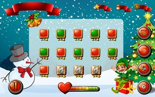 Game template with christmas theme vector