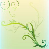 Diseño de borde de hoja de vid verde