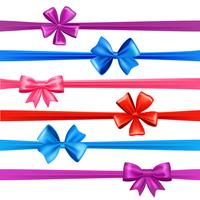 Bows And Ribbons Set vector