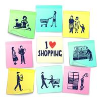 Sticker note style supermarket cards