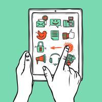 sociala medier tablett
