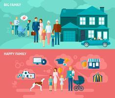 Set di banner di famiglia